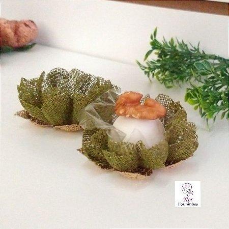 25 Forminhas para doces Gerbera -Verde Pistache - F065