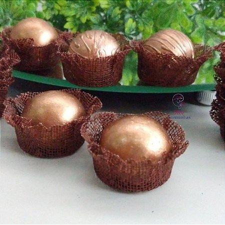 50 Forminhas Cestinha Chocolate F026
