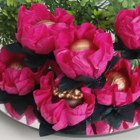 25 Forminhas Flor Gerbera Papel Pink - F062