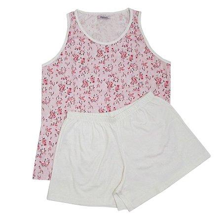 Pijama Regata Feminino Florido
