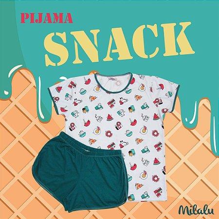 Pijama Short Doll Feminino Snack