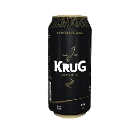 Cerveja Krug Bier Dry Stout - 473 ml - Caixa 12 unidades
