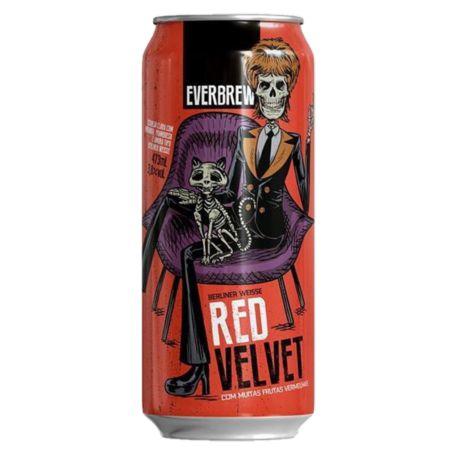 Cerveja Everbrew Red Velvet - 473 ml - Caixa 6 unidades