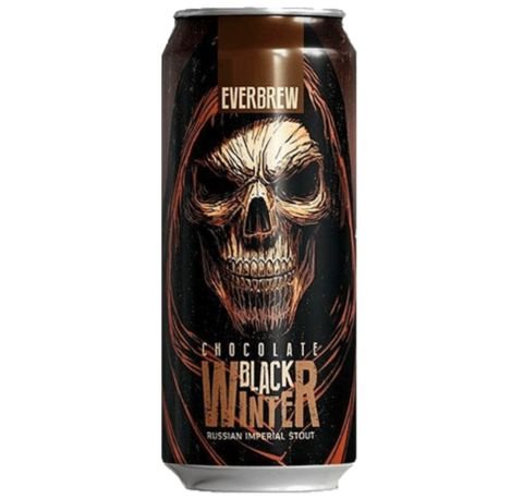Cerveja Everbrew Black Winter Chocolate - 473 ml - Caixa 6 unidades