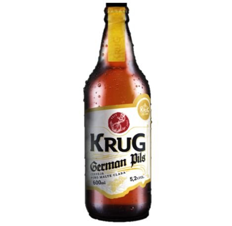 Cerveja Krug German Pils - 600 ml - Caixa 12 unidades