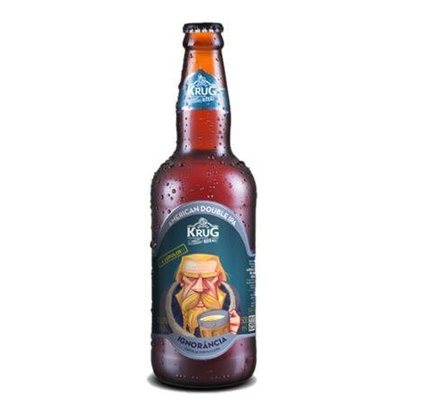 Cerveja Krug Bier Double IPA Ignorância - 500 ml - Caixa 12 unidades