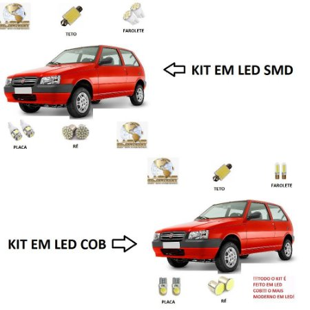 Kit Led Fiat Uno Mille Way Fire Strada