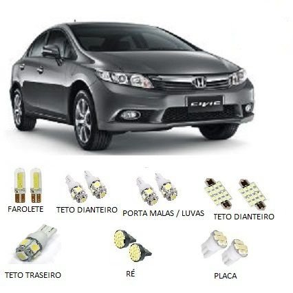 Kit Led Honda New Civic 2014 Até 2016