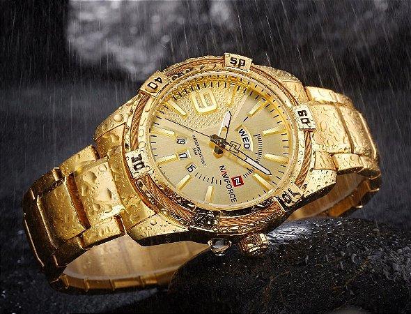 Relógio Naviforce NF9117 Dourado