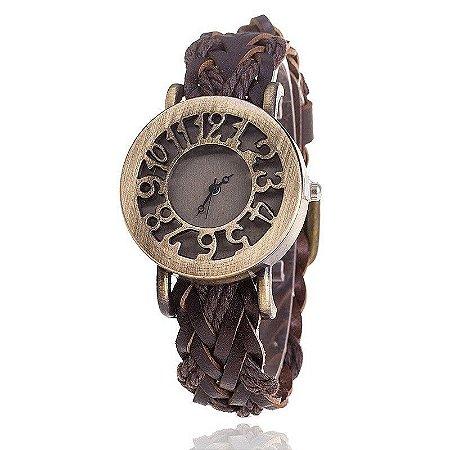 Relógio CCQ Vintage Roma Trançado