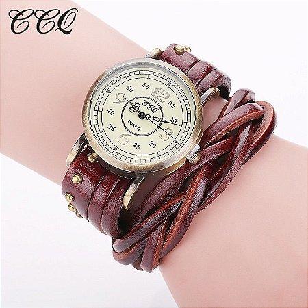 Relógio CCQ Vintage Casual