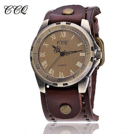 Relógio CCQ Vintage Luxo