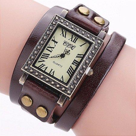Relógio CCQ Vintage Roma Quadrado