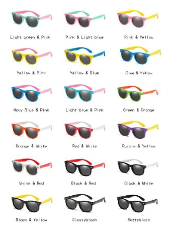Óculos Infantil Flexível Polarizado Proteção Uv 400