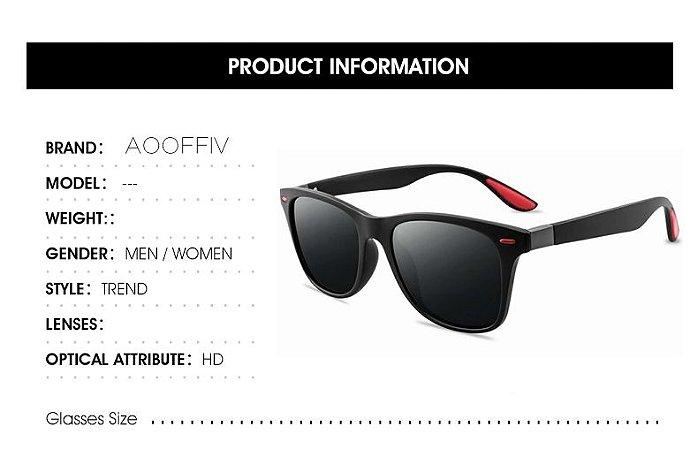 Óculos Adulto Unissex Polarizado Proteção Uv 400