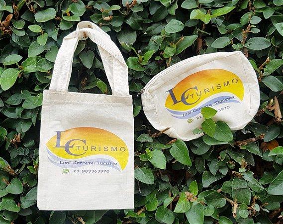 Sacola + Necessarie Ecológica Personalizada C/ 10 Unidades Cada