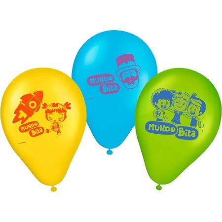 Balão Mundo Bita 9'' com 25 unidades