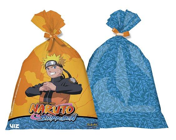 Sacola Plástica Naruto com 08 unidades