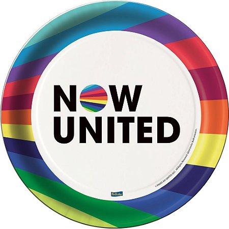 Prato 18cm Now United com 08 unidades