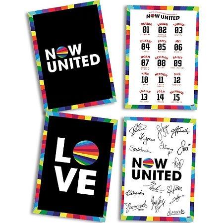 Quadros Decorativos Now United com 04 unidades