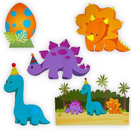Decoração de Mesa Baby Dino com 06 unidades