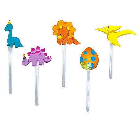Pick para Doces Baby Dino com 10 unidades