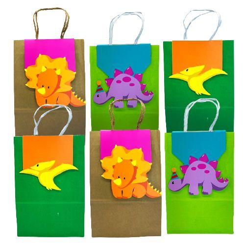 Sacola Papel Craft Baby Dino com 06 unidades
