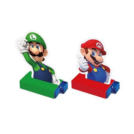 Porta Bis Super Mário com 08 unidades