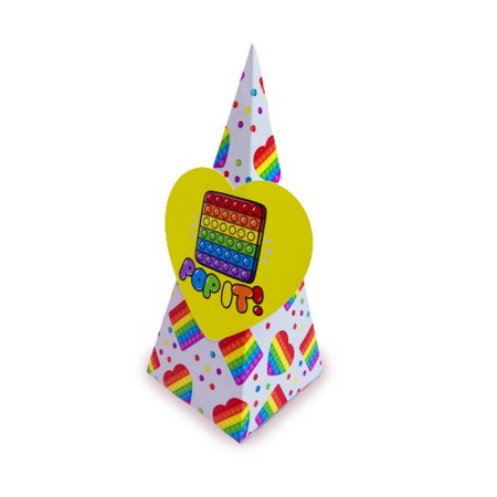 Caixa Pirâmide Pop It com 06 unidades
