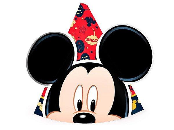 Chapéu de Papel Orelhas Mickey Clássico com 08 Unidades