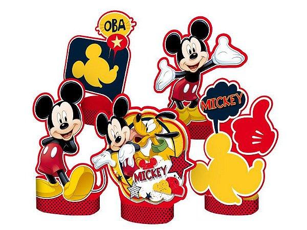 Decoracao De Mesa Mickey Classico Com 05 Unidades