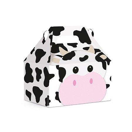 Caixa Maleta Kids Fazendinha Vaca 12x8x12 com 10 Unidades