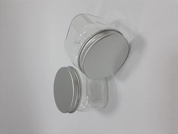 1e10d7b6a0 Pote Plástico com tampa prata
