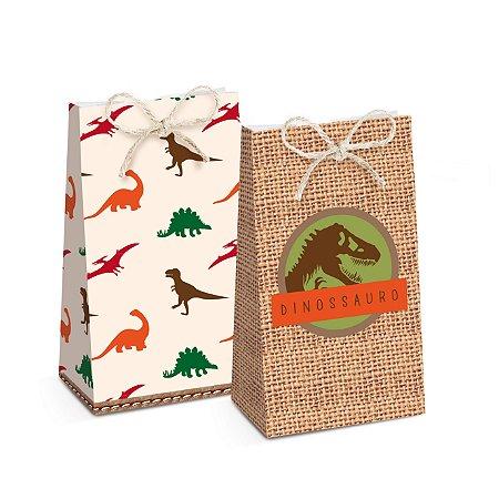 Caixa p/ Lembrancinha Mundo dos Dinossauros c/ 8 und