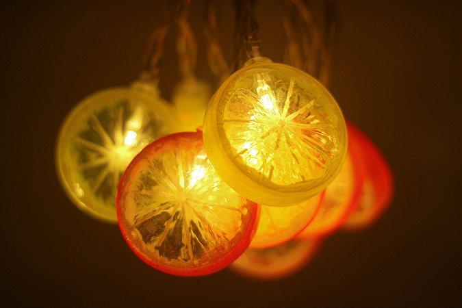 Cordão de LED Limão/Laranja