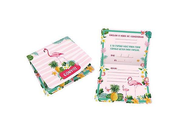 Convite Pequeno Flamingo