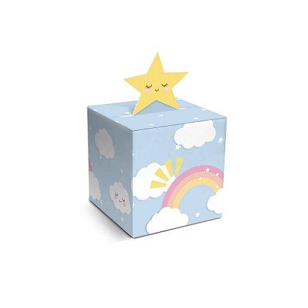 Caixa para Docinho Azul 4,5x4,5x4