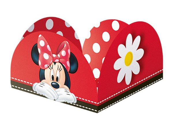 Porta Forminha Red Minnie 9,5X9,5cm