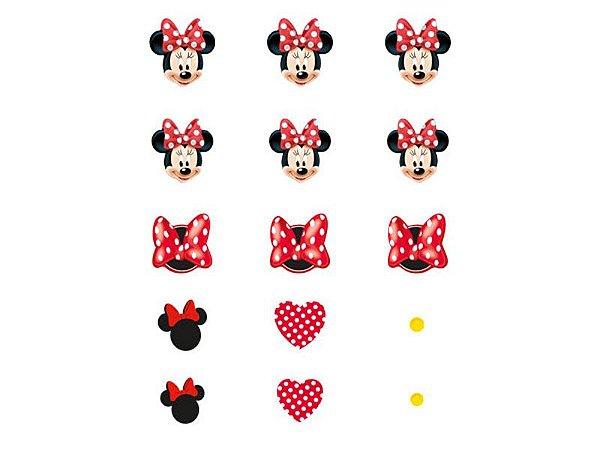 Confete De Papel Red Minnie