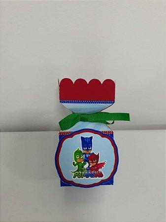 Caixa bala personalizada PJ Masks com 06 unidades
