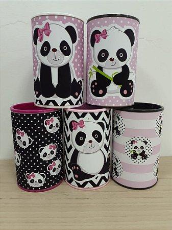Cofre personalizado Panda Rosa com 05 unidades