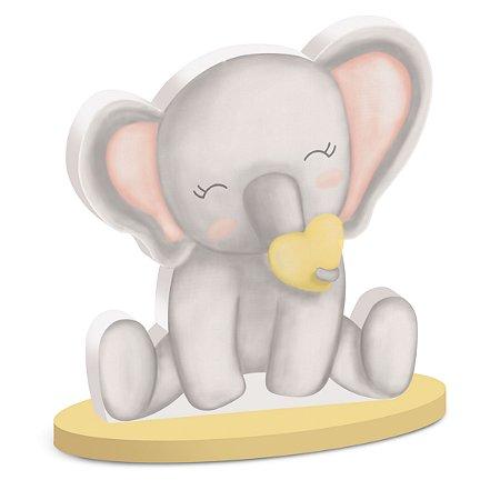 Silhueta decorativa elefantinho Bichinhos baby c/ 02 unidades