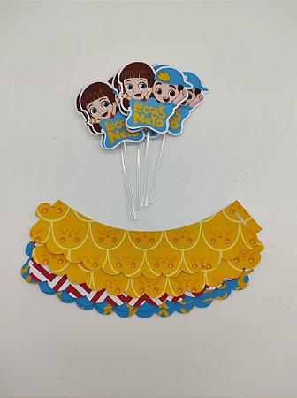 Kit para cupcake Luccas Neto com 06 unidades