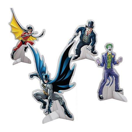 Decoração de Mesa Batman com 08 unidades