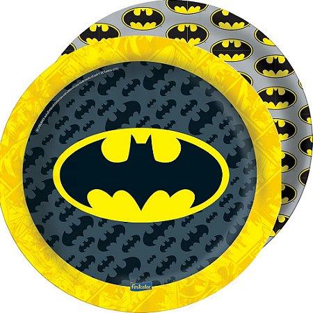 Prato redondo Batman Geek com 08 unidades