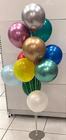 Suporte para balão base prata