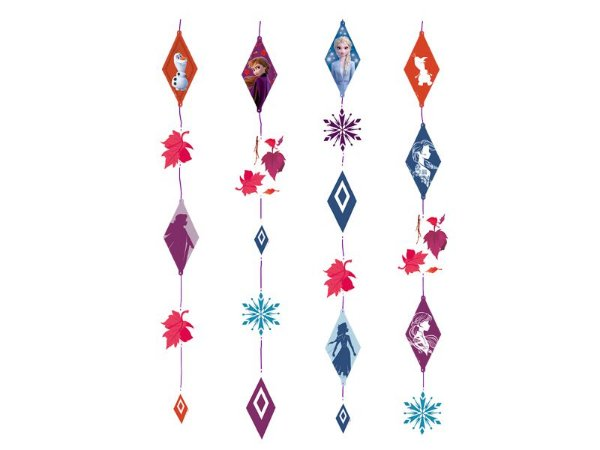 Cortina decorativa Frozen II com 21 peças