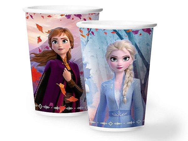 Copo papel Frozen II 180ml com 12 unidades