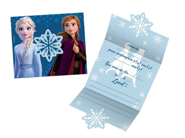 Convite Frozen II com 08 unidades