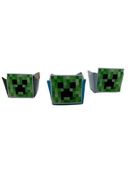 Forminha Mini Cachepot Minecraft com 12 unidades